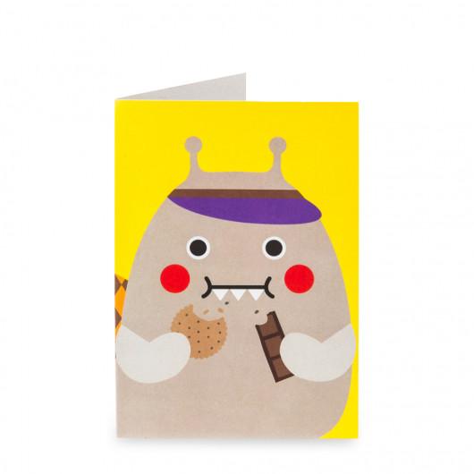 Snail Nom Nom - Greeting Card | Noodoll