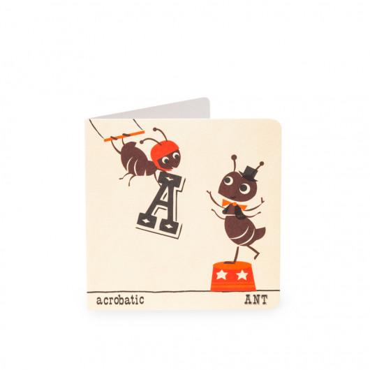 Ant - Alphabet - Card | Noodoll