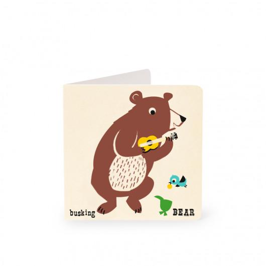 Bear - Alphabet - Card | Noodoll