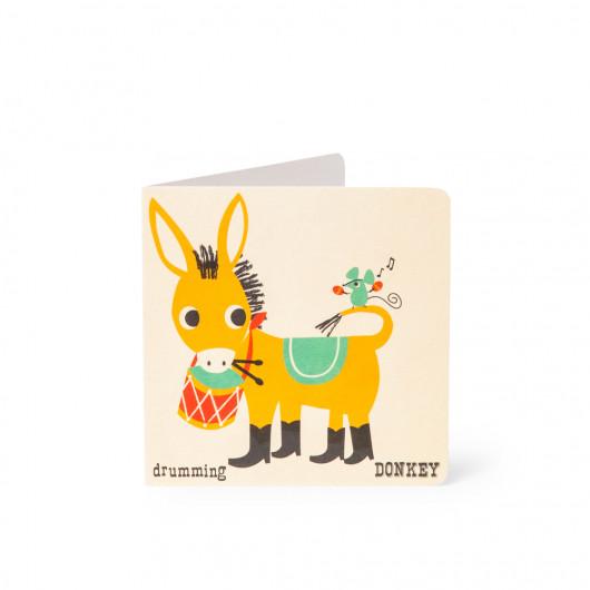 Donkey - Alphabet Card | Noodoll