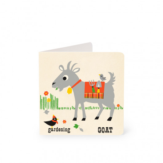 Goat - Alphabet Card | Noodoll