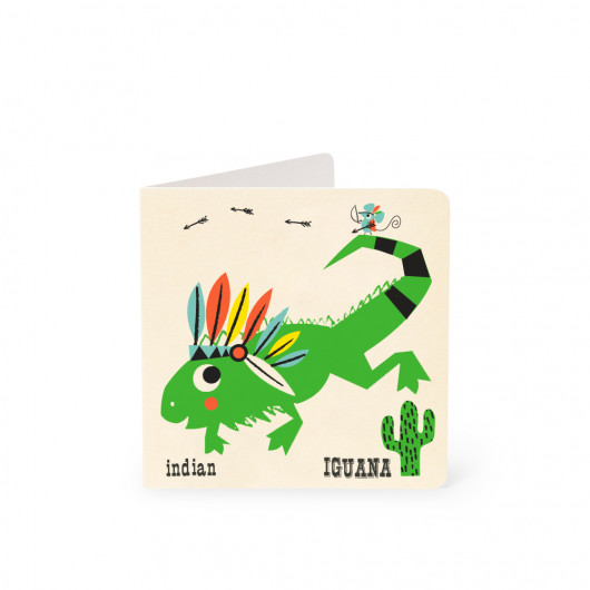 Iguana - Alphabet Card | Noodoll