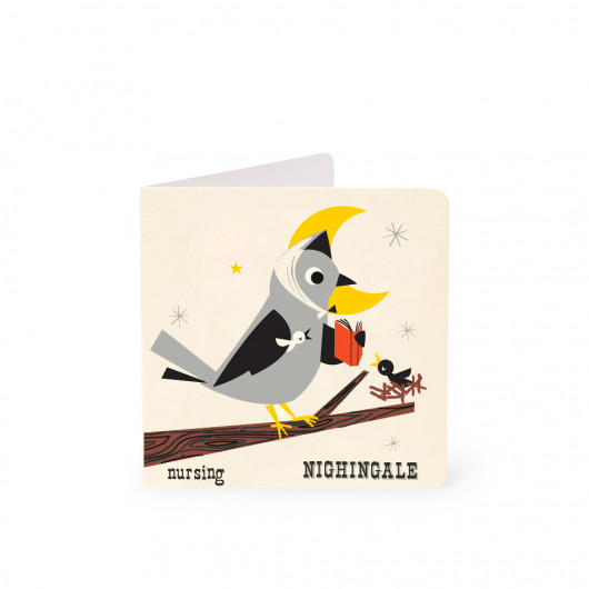 Nightingale - Alphabet Card | Noodoll