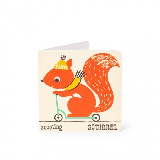 Squirrel - Alphabet Card | Noodoll