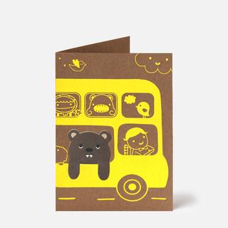 Bookmark Card Noodoll Bus