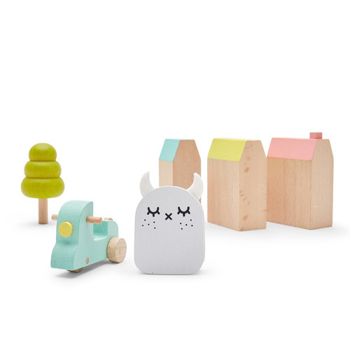 Wooden Ricetown - Play Set | Noodoll