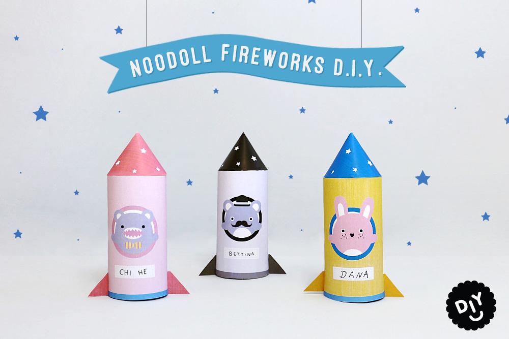 D.I.Y. Noodoll Paper Rockets!